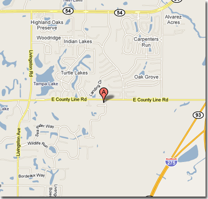 Lutz FL Dog Training Location Map